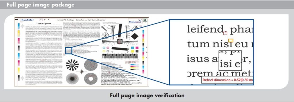 web inspection - full page image verification