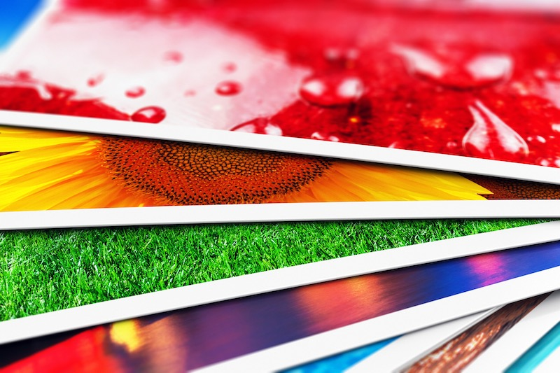 Print quality of postcards with web inspection