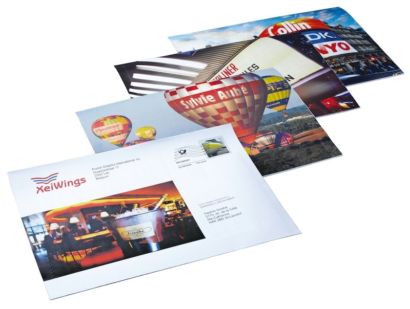 Folded direct mailings